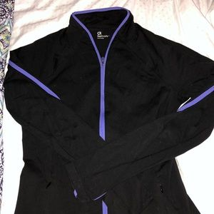 Black and purple Gap Body zip up